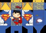 caixa milk superman cute