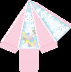 caixa piramide chuva de amor menina