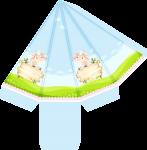 caixa piramide ovelhinha rosa 1