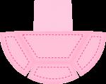 caixa piramide ovelhinha rosa 3