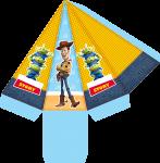 caixa piramide toy story