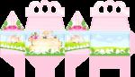 caixa presente ovelhinha rosa 1
