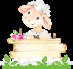 caixa presente ovelhinha rosa 2