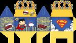 caixa presente superman cute