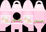 caixa quadrada com visor ovelhinha rosa 1