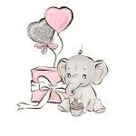 festa elefantinho aquarela 1