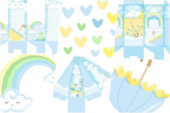 kit festa chuva de amor menino para imprimir