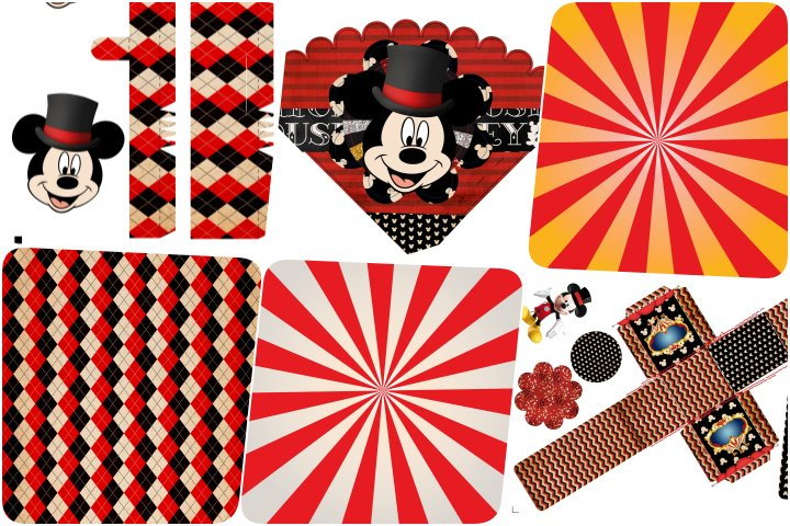 kit festa circo mickey para imprimir