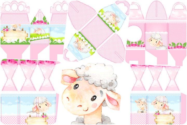 kit festa ovelhinha rosa para imprimir