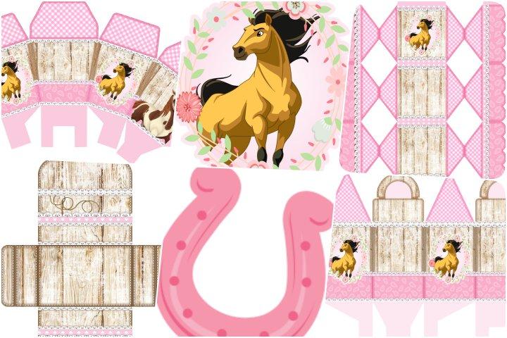 kit festa spirit rosa para imprimir