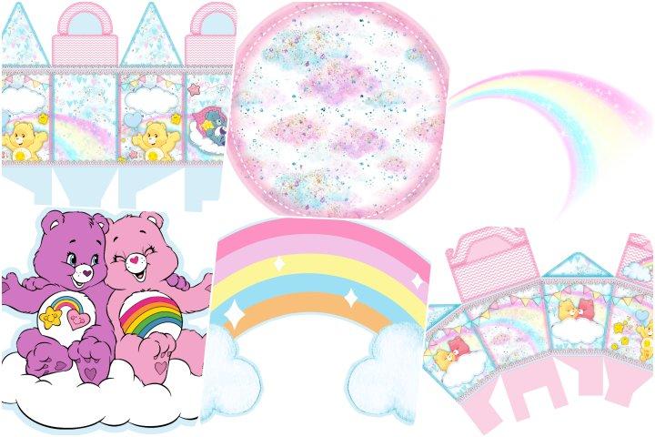 kit festa ursinhos carinhosos rosa para imprimir