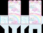 sacola ursinhos carinhosos rosa