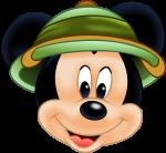 topo de bolo mickey safari 1