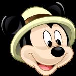 topo de bolo mickey safari 2