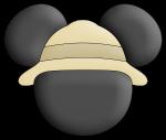 topo de bolo mickey safari 4