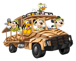topo de bolo mickey safari 6