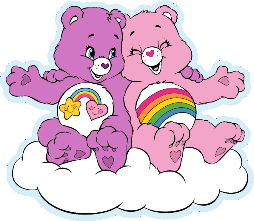 topo de bolo ursinhos carinhosos rosa