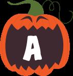 alfabeto personalizado abobora halloween 1