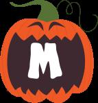 alfabeto personalizado abobora halloween 13
