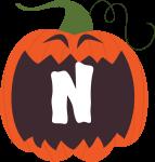 alfabeto personalizado abobora halloween 14