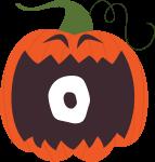 alfabeto personalizado abobora halloween 15