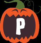 alfabeto personalizado abobora halloween 16