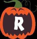 alfabeto personalizado abobora halloween 18