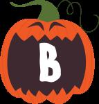 alfabeto personalizado abobora halloween 2