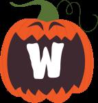 alfabeto personalizado abobora halloween 23