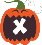 alfabeto personalizado abobora halloween 24