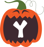 alfabeto personalizado abobora halloween 25