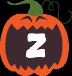 alfabeto personalizado abobora halloween 26