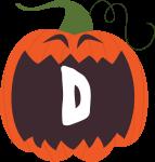 alfabeto personalizado abobora halloween 4