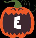 alfabeto personalizado abobora halloween 5