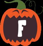 alfabeto personalizado abobora halloween 6