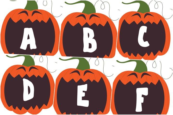 alfabeto personalizado abobora halloween para imprimir