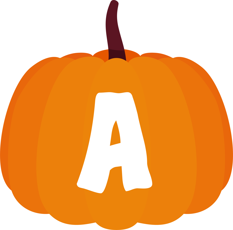alfabeto personalizado abobora1