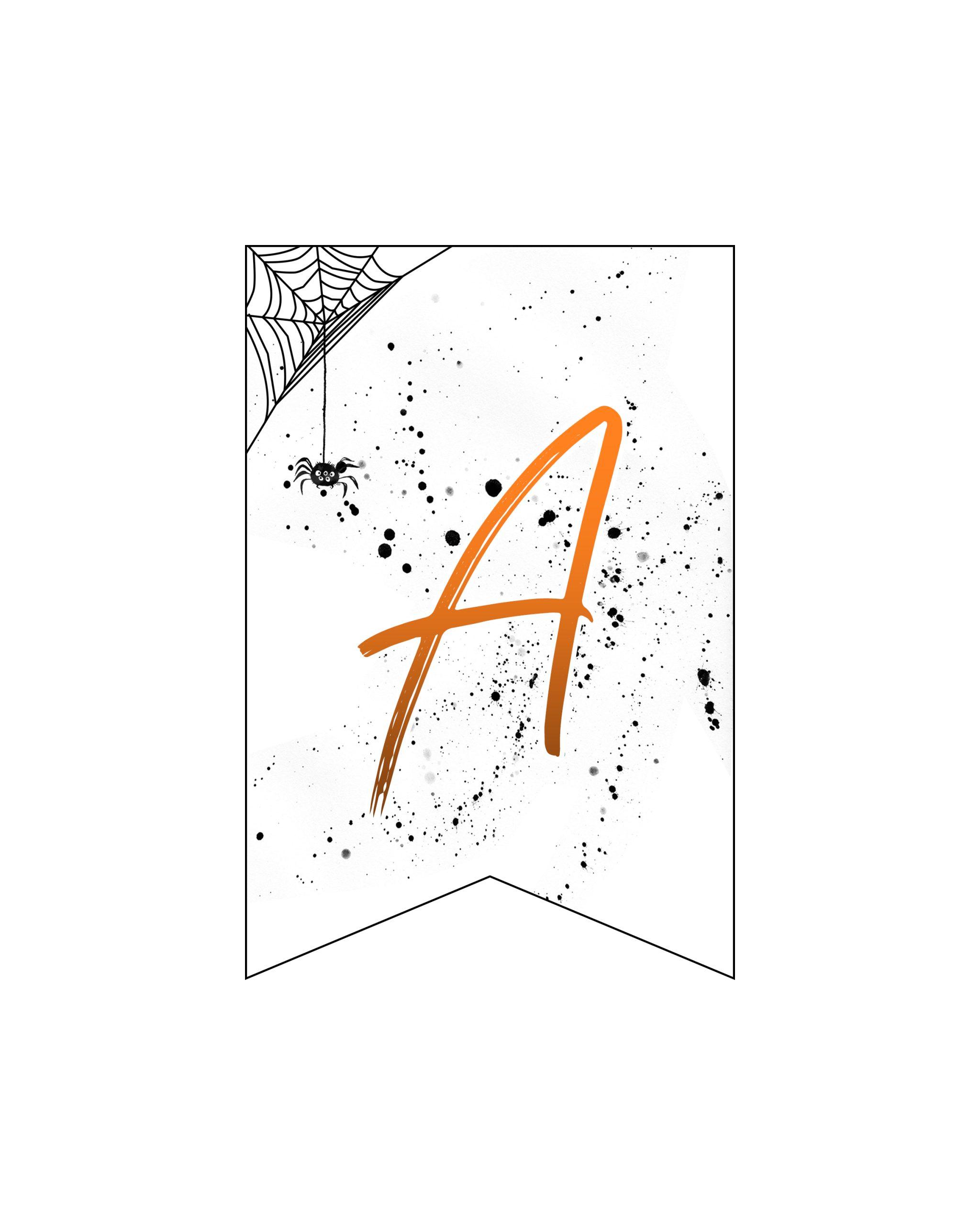 alfabeto personalizado banner halloween 1