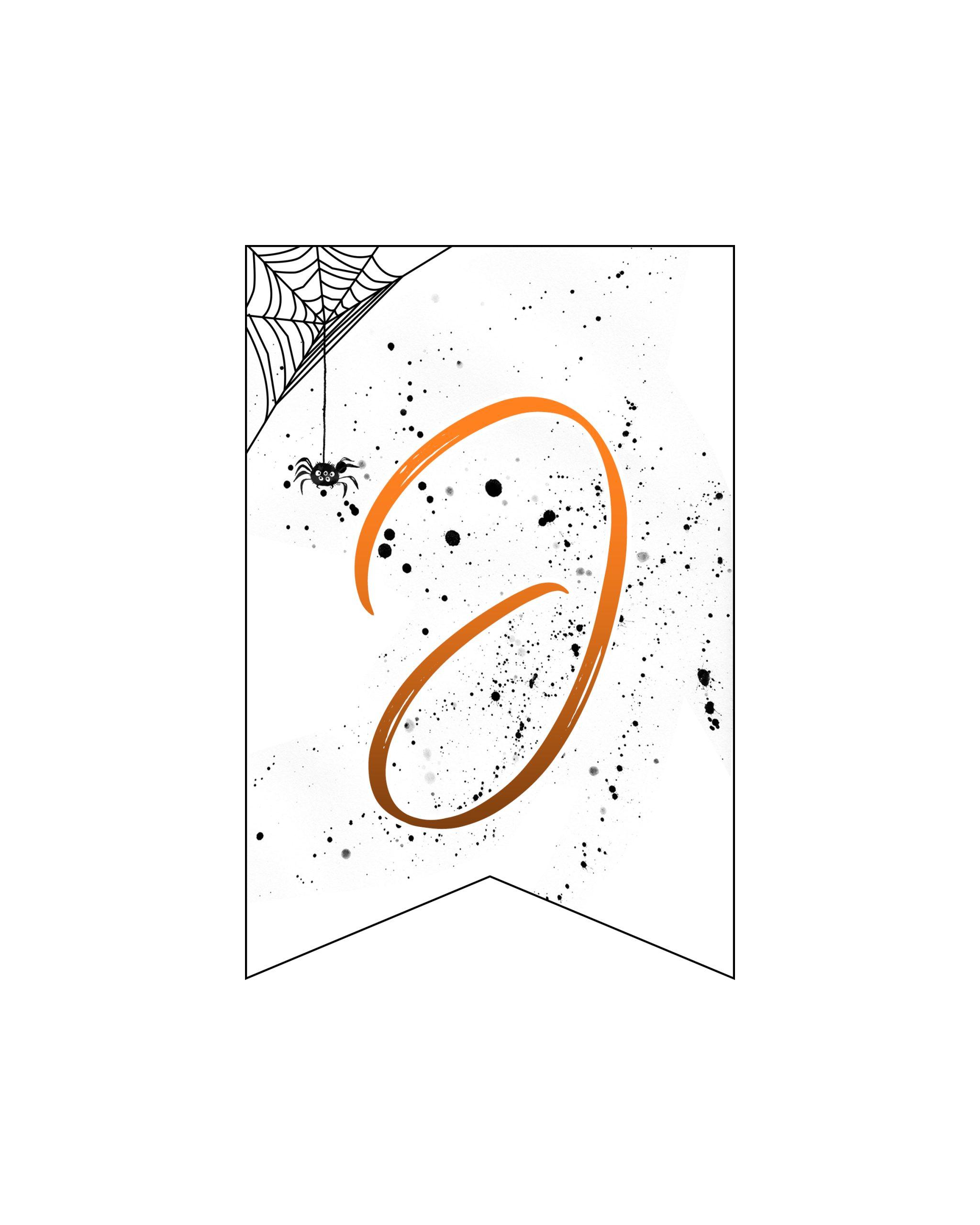alfabeto personalizado banner halloween 10