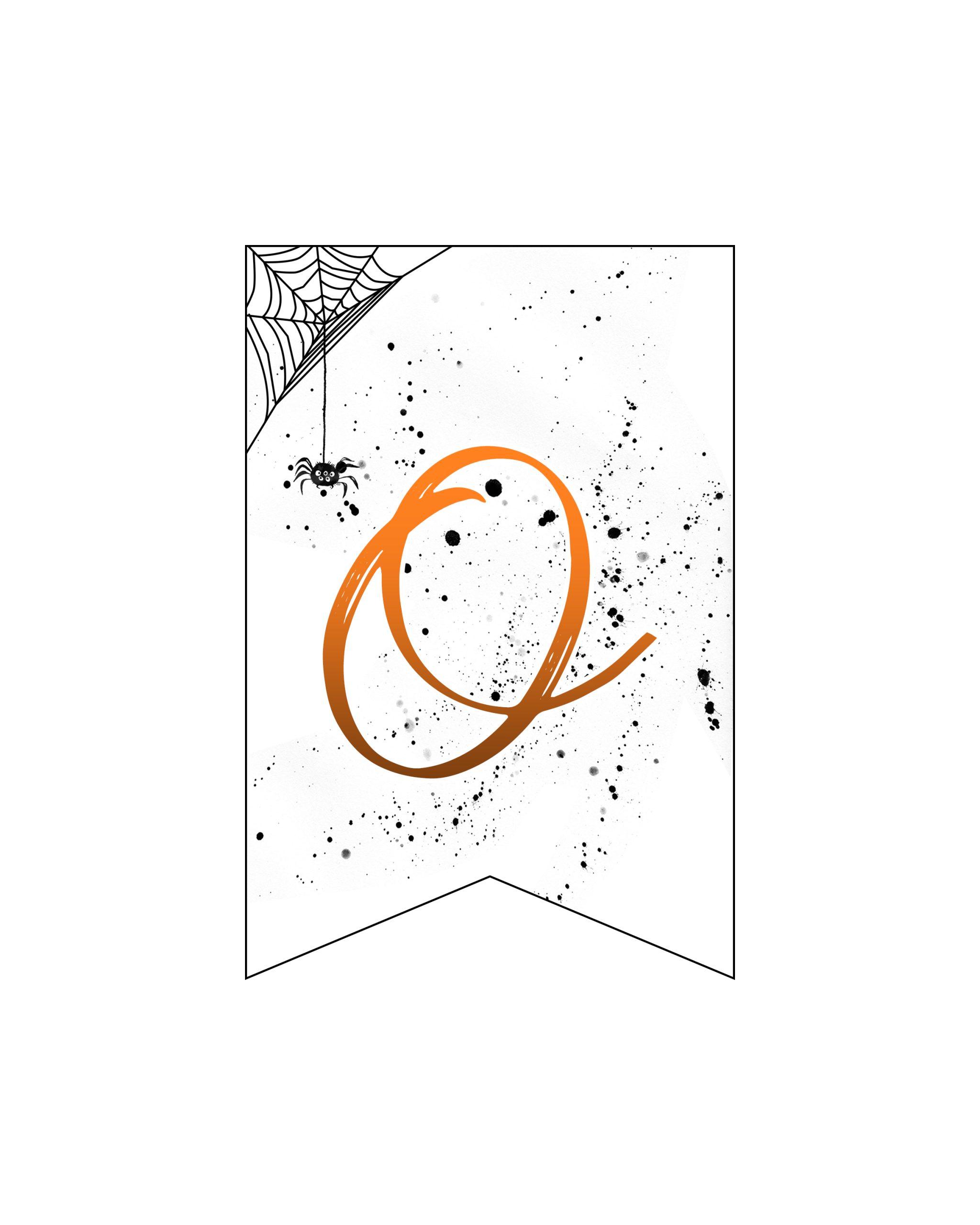 alfabeto personalizado banner halloween 15