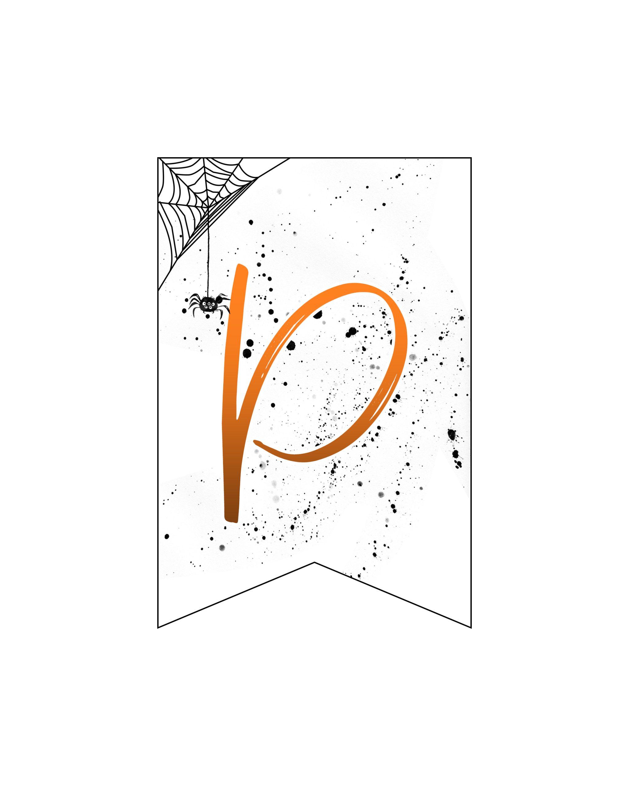 alfabeto personalizado banner halloween 16