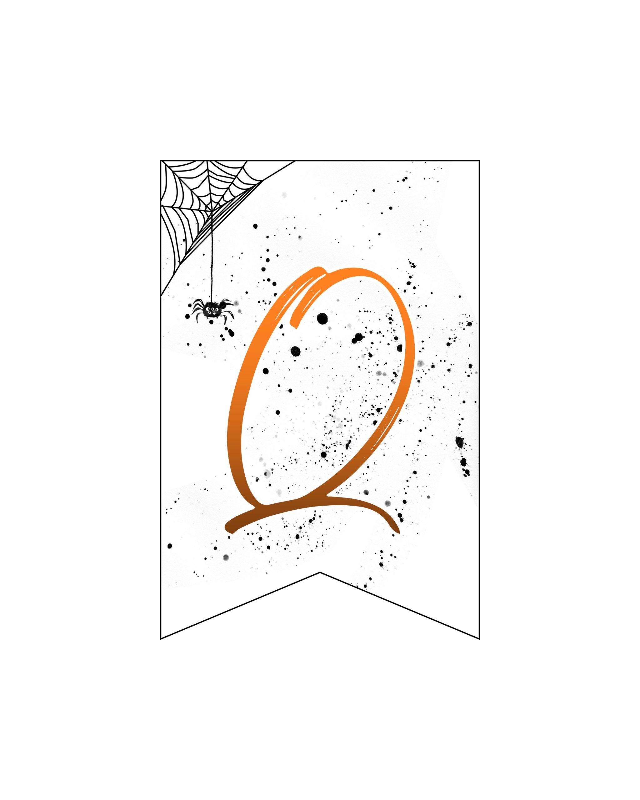 alfabeto personalizado banner halloween 17