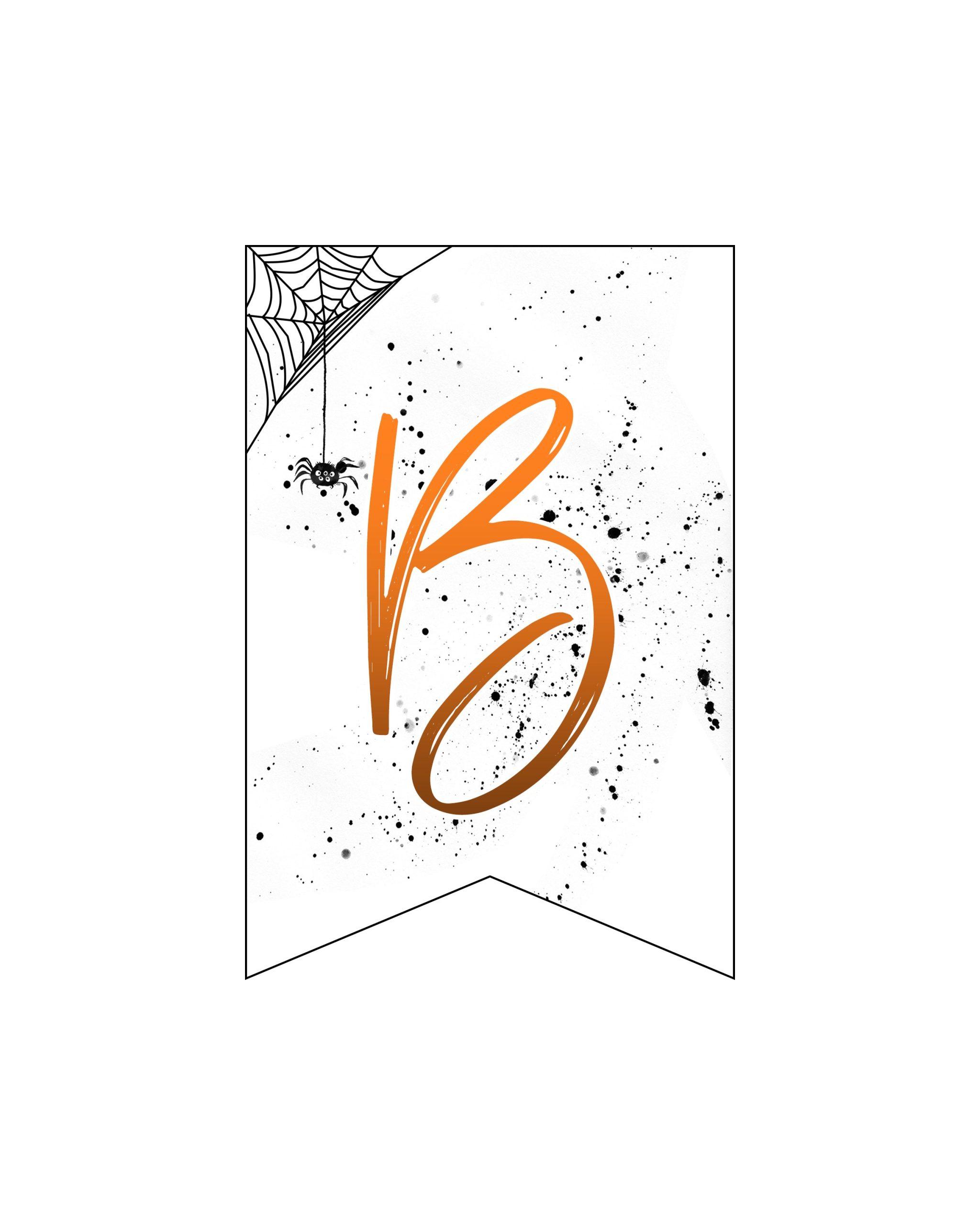 alfabeto personalizado banner halloween 2