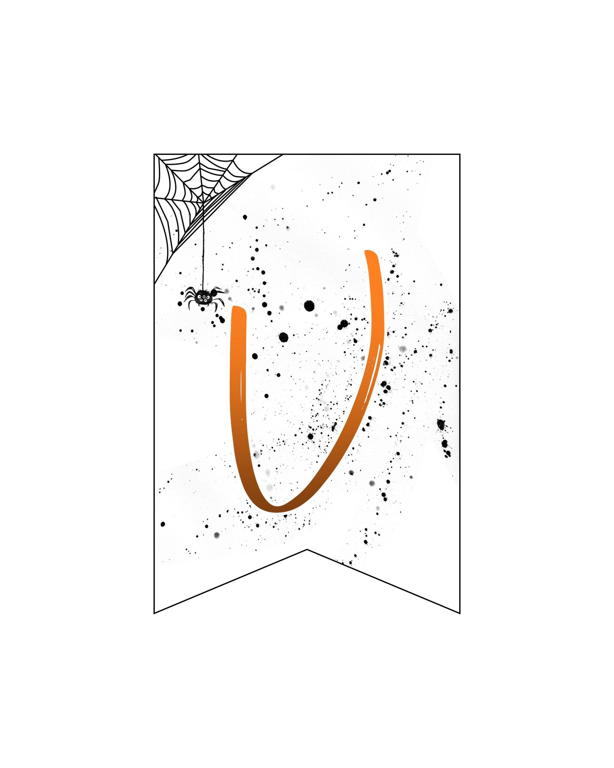 alfabeto personalizado banner halloween 22