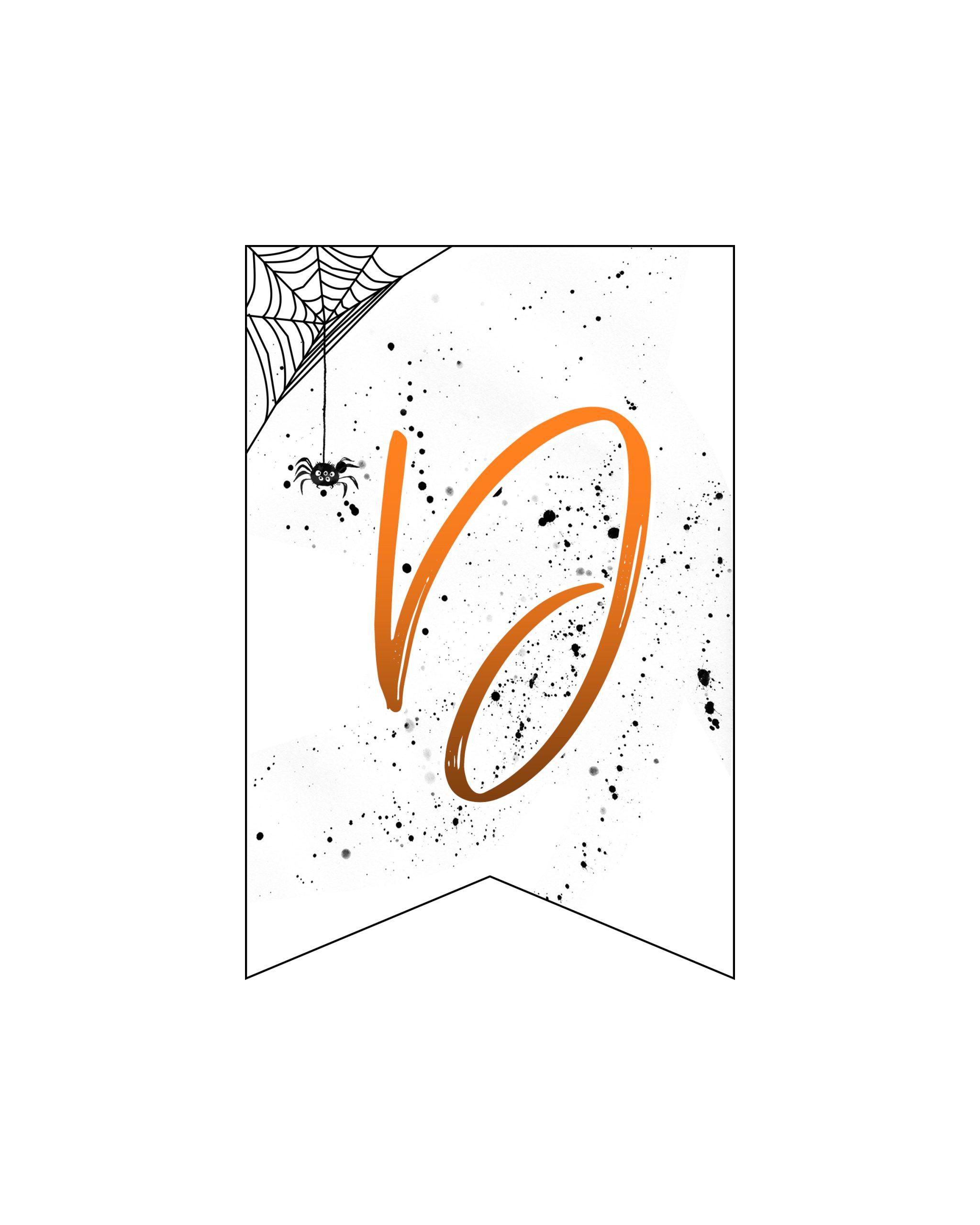 alfabeto personalizado banner halloween 4