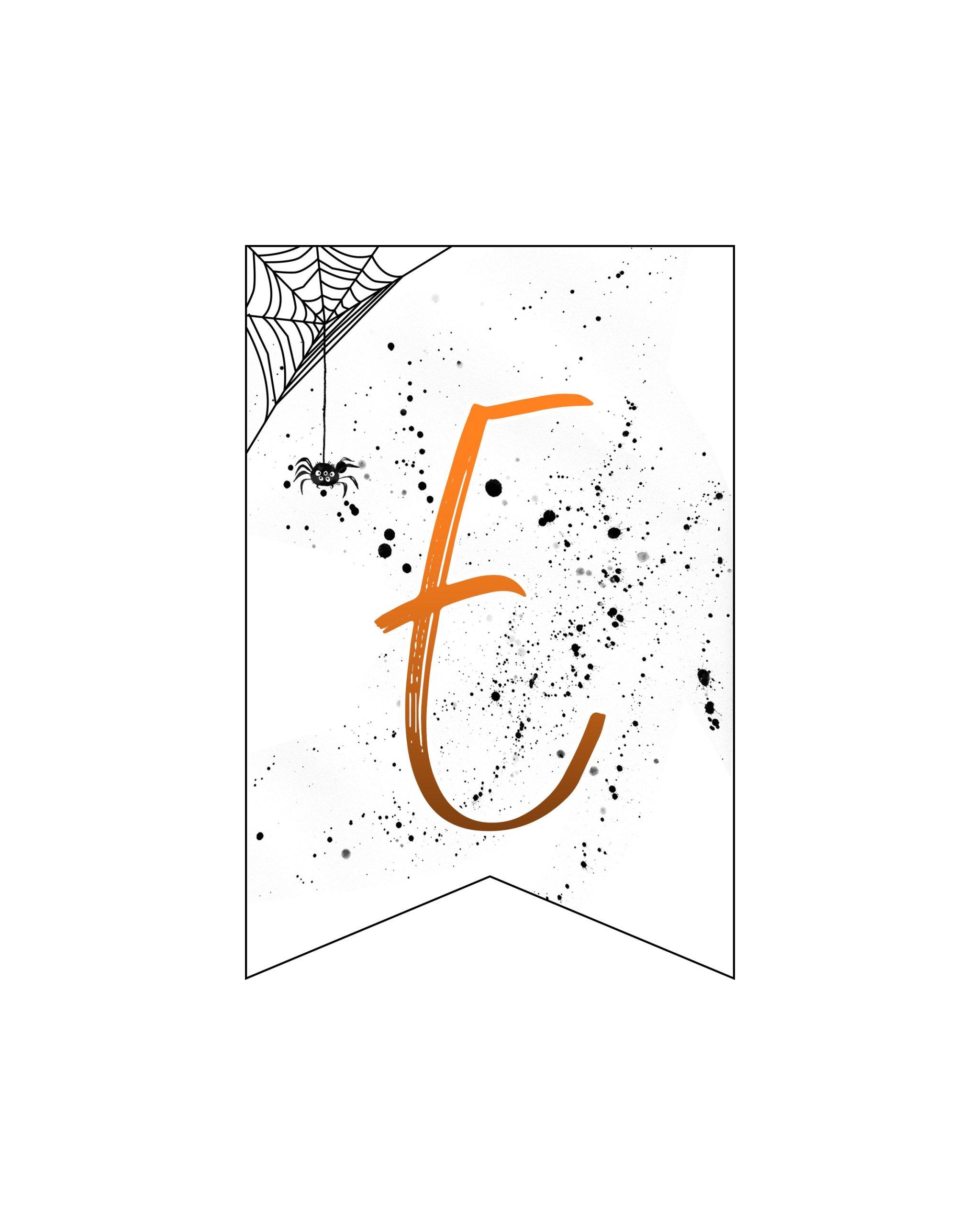 alfabeto personalizado banner halloween 5