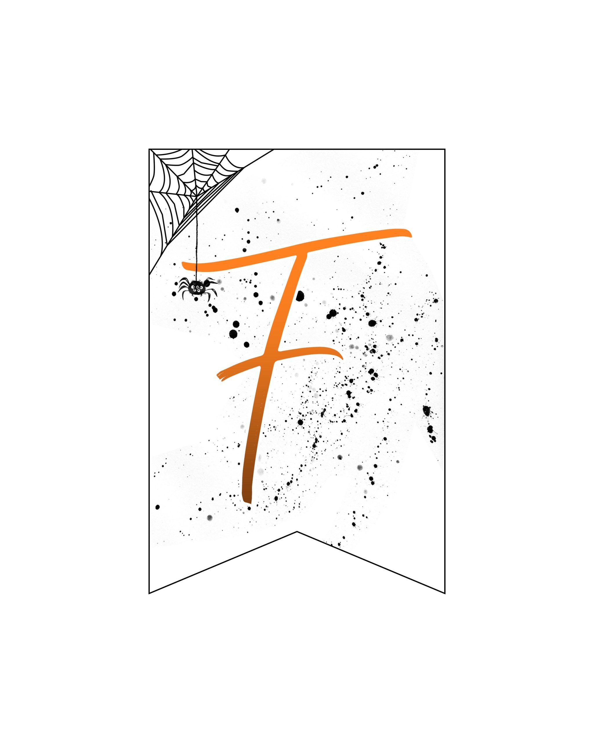 alfabeto personalizado banner halloween 6