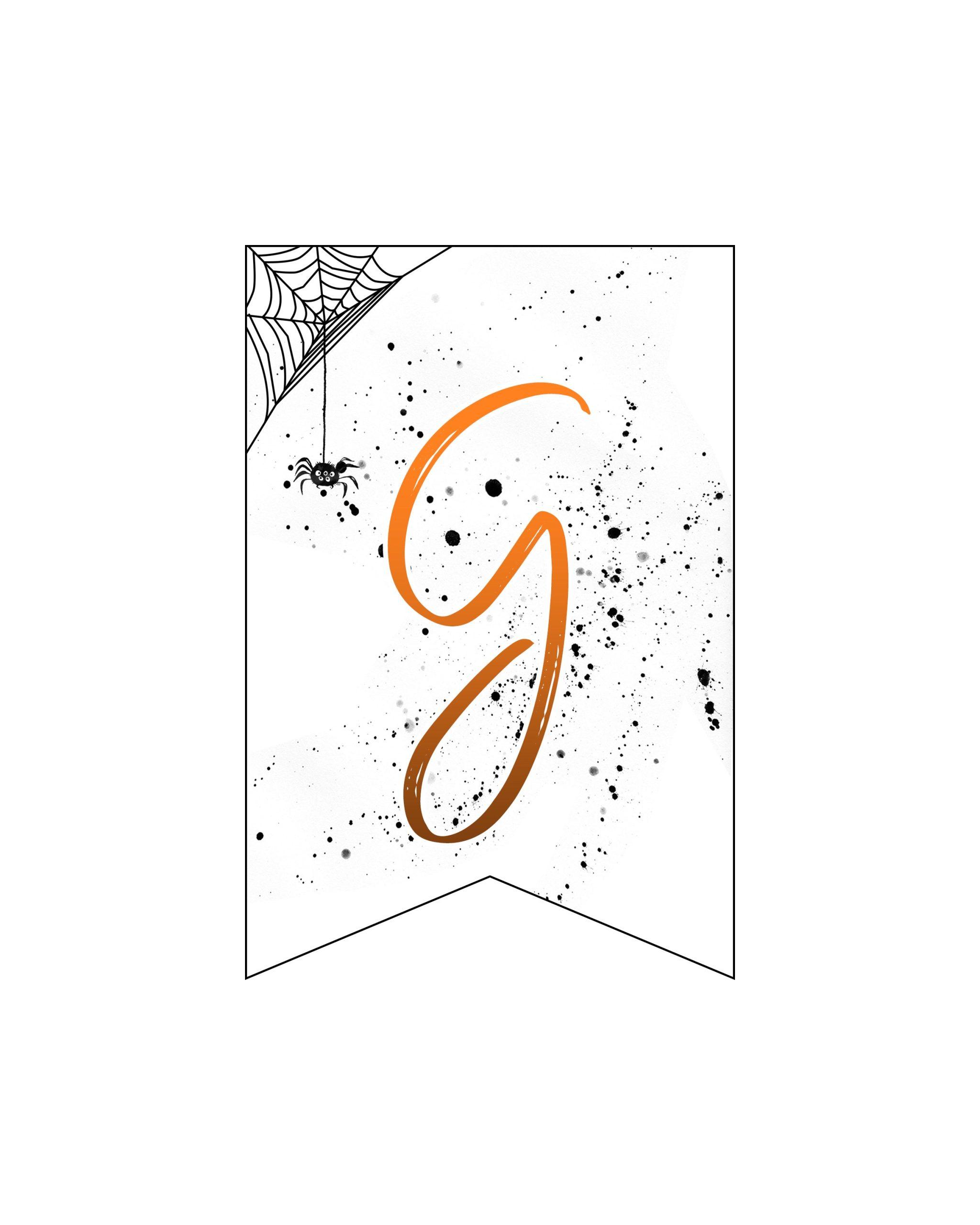 alfabeto personalizado banner halloween 7