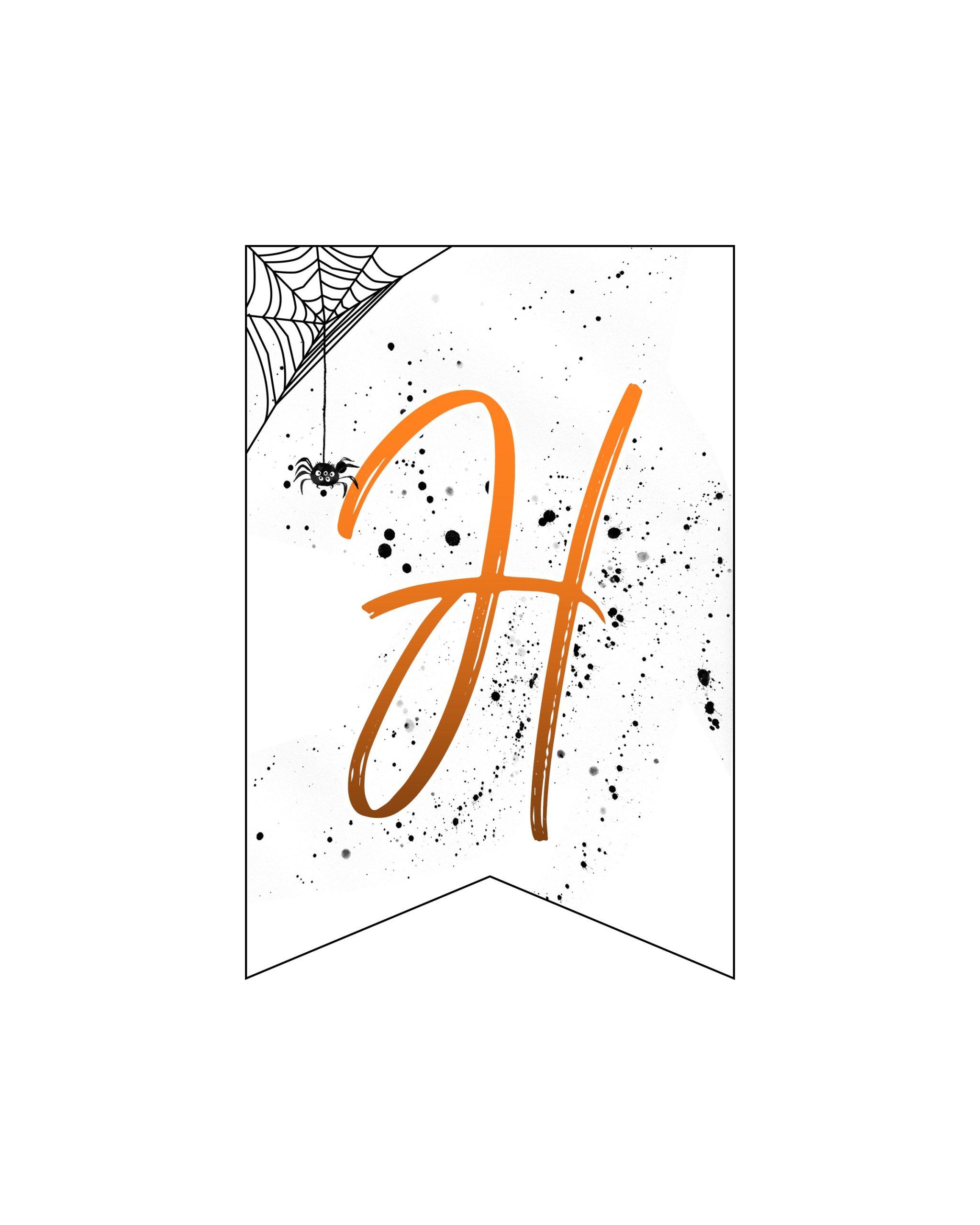 alfabeto personalizado banner halloween 8