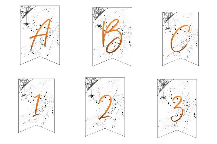 alfabeto personalizado banner halloween